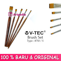 V-TEC Brush 8710 Set 5 - Kuas Lukis Set 5 / Kuas Vtec