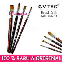 V-TEC Brush 8712 Set 4 - Kuas Lukis Set 4 / Kuas Vtec