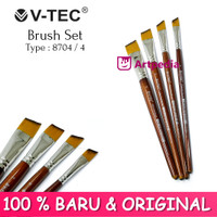 V-TEC Brush 8704 Set 4 - Kuas Lukis Set 4 / Kuas Vtec