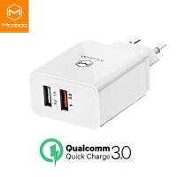 MCDODO Travel Charger USB Dual Port QC 3.0 Quick Charge Fast Charging