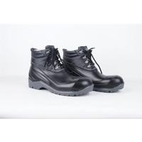 Sepatu Boot Safety HITAM Pria Ujung Besi Kualitas Premium Harga MURAH