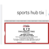 U2 THE JOSHUA TREE TOUR 2019 SINGAPORE 2nd SHOW (1 DESEMBER 2019)