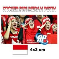 sticker pipi merah putih / sticker pipi bendera Indonesia / stiker