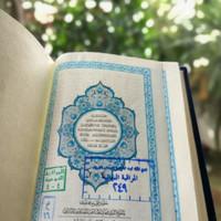 asli Al Quran Saku (Madinah) Warna biru asli original