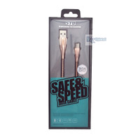 Kabel Data Type C 3A FAST Charging & Transfer Cord Protector Rose Gold