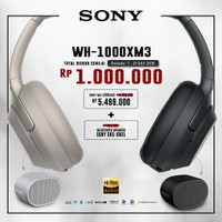 SONY WH-1000XM3 Silver Wireless Noise Canceling Headphones
