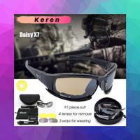 Kacamata Taktikal Melindungi Mata Dari Sinar UV Dengan 4 Lensa