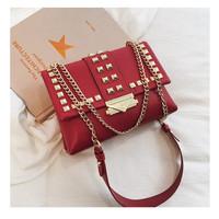 20263 Tas Korean Impor Selempang Pergi Pesta Clutch Merah Shoulder bag