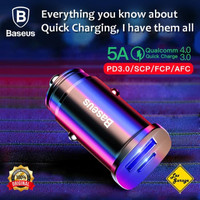 CAR CHARGER BASEUS 30W 5A TYPE-C PD3.0+USB QUICK CHARGE 4.0 BS-C15C -
