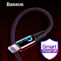 KABEL DATA LIGHTNING BASEUS AUTOMATIC POWER-OFF FAST CHARGING 2.4A - H