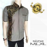 Harga kemeja pria gaul model distro kombinasi terbaru batik man kombi | antitipu.com