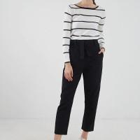Berrybenka Plora stripe knit top black