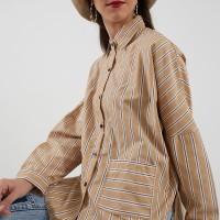 Berrybenka Carvina stripe shirt yellow