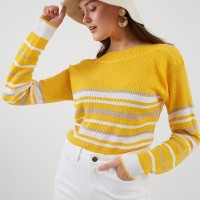 Berrybenka Brisya stripe sweater yellow