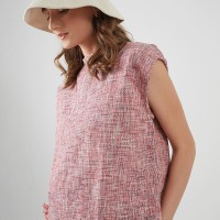 Berrybenka Trilly Tweed Top Red