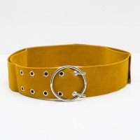 Berrybenka Laela Decyta Suede Belts Yellow