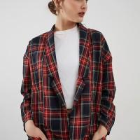 Berrybenka Carmila checkered blazer red