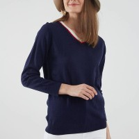 Berrybenka Pelly vneck sweater navy