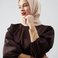 Harga hijabenka leslie bubble sleeve top dark | antitipu.com
