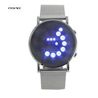 EYe? Jam Tangan LED Bulat Ultra Tipis Kreatif untuk Pria / Wanita