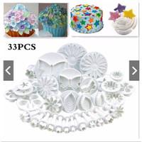 Cetakan Hiasan Kue Ulang Tahun Alat Penghias Kue Set 33 Pcs