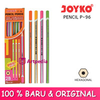 Pensil Joyko P-96 2B Neon Color Silver / Pencil For Computer / Pensil