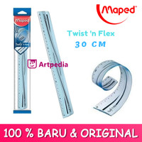 Maped Ruler Twist'n Flex Eco 30cm / Penggaris maped Fleksibel