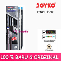 Pensil Joyko P-92 2B Black Wood / Pencil For Computer / Pensil Joyko
