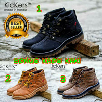 SEPATU PRIA CASUAL KICKERS BOOTS MONSTER MADE IN FRANCE BOOTS SAFETY
