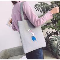 TS93 Japanese Funny Grey Tote Bag / Tas Wanita
