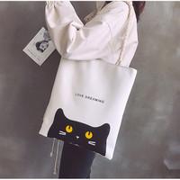 TS92 Creative White Tote Bag / Tas Wanita