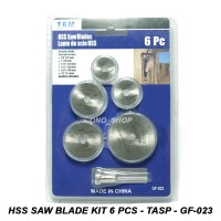 HSS Saw Blade Kit 6 Pcs - TASP - GF-023