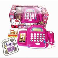 Kado anak Cerdas Mainan Kasir Kasiran Hello Kitty PINK MURAH