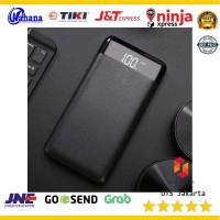 Power Bank Quick Charge 2 Port 20000mAh with LED Flash - M200 - Hitam