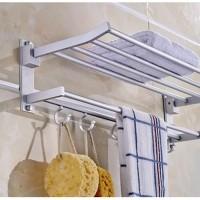 [HB289] Rak handuk Dinding toilet Aluminium