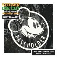 Car Sticker Mickey Mouse Pass Holder Buat Kaca Mobil Body laptop Motor