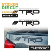 Sticker TRD Toyota Racing Car Stiker Development Bak Truk