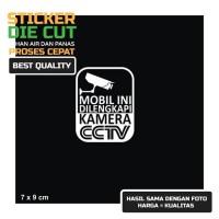 STIKER MOBIL INI DILENGKAPI KAMERA CCTV CAR STICKER CCTV