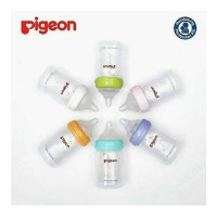 PIGEON PP BOTTLE WIDE NECK PERISTALTIC Free NIPPLE dan Screw cover
