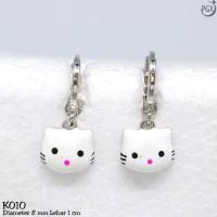 K10 Anting Anak Hello Kitty - Perhiasan Lapis Emas 18K - Xuping Yaxiya