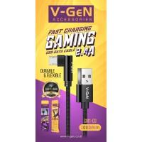 Kabel Data MicroUSB V-GeN CM1-03 Fast Charging 2.4A QC 3.0 Gaming VGEN