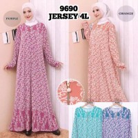 Baju Gamis Wanita Terbaru Gamis Busui Jumbo Jersey Korea 4L 9690