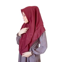 Jilbab Instan Geysa Hijab Instan Polos Polly Cotton Khimar Instan