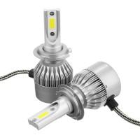 C6 Car COB LED Headlights Bulb Fog Lamp H1 H3 H7 H8/9/11