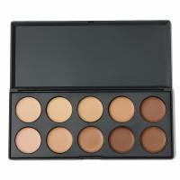 Luckyfine 10 Colors Concealer Contour Kit Cream Dark Shadow
