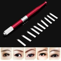 Permanent Eyebrow Lip Liner Pen with 10pcs Needles