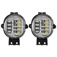 Car Front LED Fog Lights Lamps Super Bright 6500K Pair for