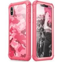 Case iPhone X/XS i-BLASON Ares Camo Case with Screen Original - Pink