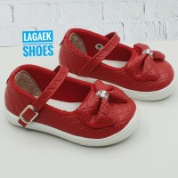 sepatu anak usia 1 2 3 4 Tahun PITA merah/Slion on anak BTF-MERAH