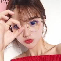 Kacamata Wanita Bulat Lensa Pria Bingkai Logam Retro Sunglasses Metal